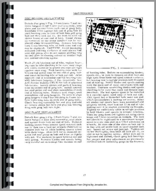 Allis Chalmers WD WD45 Tractor Operators & Parts Manual