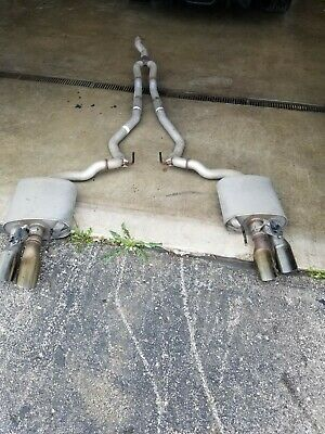 18 20 ford mustang ecoboost oem quad exhaust ebay