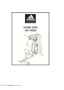 ADIDAS AD-10250 MULTI GYM USER MANUAL AND ASSEMBLY MANUAL