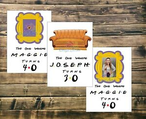 details about personalised inspired friends tv show poster print birthday graduation wedding