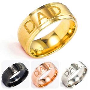 Titanstahl Dad Ring Engraved Love You Dad Herren Ring Bandring Fingerringe Gifts  eBay