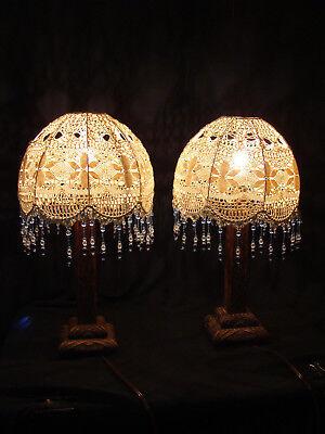 lampes de chevet art deco en bois d epoque abat jour d epoque ebay