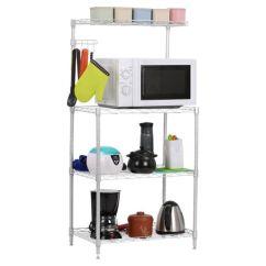 Kitchen Bakers Rack Outdoor Accessories 4 Tier Microwave Oven Stand Storage Cart Workstation Shelf