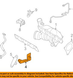 2005 2008 audi a4 engine turbo exhaust manifold mount bracket oem [ 1500 x 1197 Pixel ]