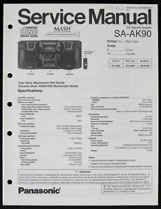 Panasonic SA-AK90 Original CD Stereo System Service Manual