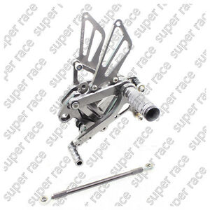 Adjustable CNC Rearsets Footpegs Pedals For KAWASAKI Ninja