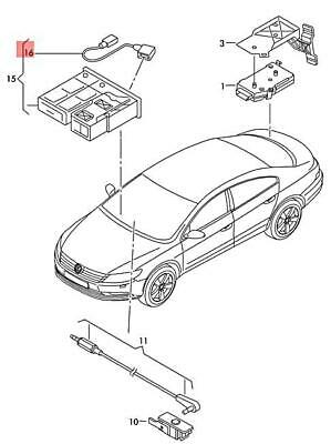 Genuine VW Beetle Cabrio Bettle Adapter Wiring Set For