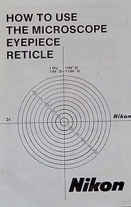 Nikon Microscope Reticle Calibration Manual on CD
