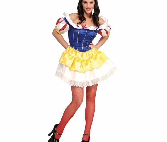 Sexy Snow White Adult Halloween Costume Fairy Tale Maiden Roleplay