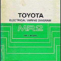1985 Toyota Mr2 Wiring Diagram Renault Master 2016 Electrical Manual Schematic Book 85 Image Is Loading