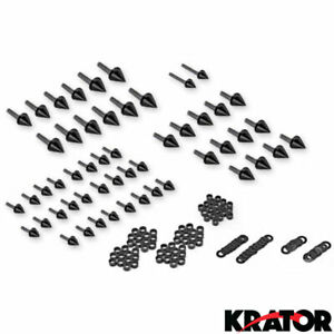 Motorcycle Spike Fairing Bolts Black Spiked Kit For 2000