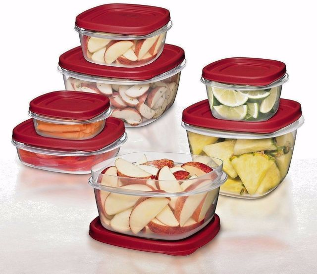0.5 /1.25 /2 /3/5/7 cups Rubbermaid BPA-FREE Plastic Food Storage Containers Set 2