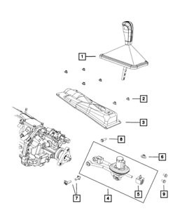 09-12 Dodge Challenger 6 Speed Manual Transmission Shifter