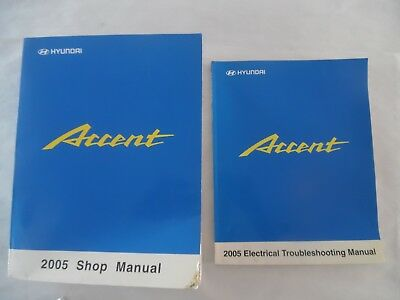 2005 hyundai accent service manual 2 volume set includes wiring diagrams   ebay