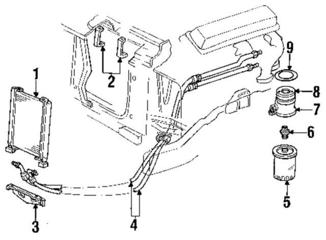 GM 12559095 Oil Filter Gasket/Engine Oil Filter Adapter
