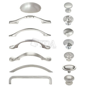kitchen drawer hardware stoves gas satin nickel brushed cabinet pull handles image is loading