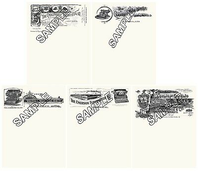 Underwood Crandall Caligraphic American Emerson Typewriter