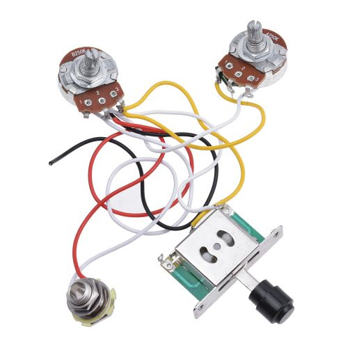 small resolution of details about guitar prewired wiring harness for fender tele parts 3 way toggle switch 250k