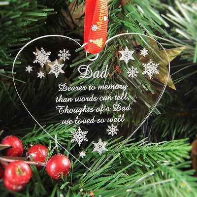 Personalised Christmas Bauble Tree Decoration Rememberence In Memory Of Dad Ebay