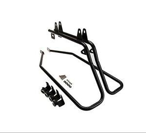 Black Saddlebag Support Conversion Bracket kit For Harley