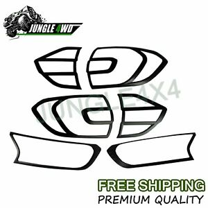 Black Head Light Cover Tail Light Cover Set Fit For