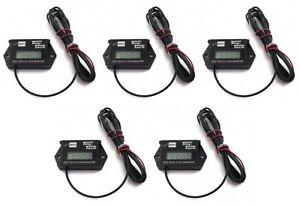 (5) Tiny Tach TT2AM Digital Hour Meter / Tachometers