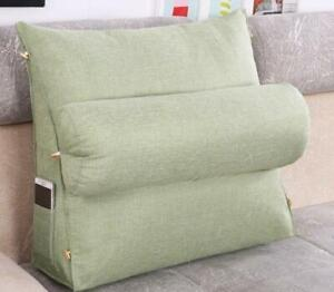 details about adjustable washable wedge cushion pillows sofa bed headrest neck back support