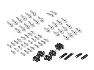 Motorcycle Spike Fairing Bolts Silver Spiked Kit For 2000