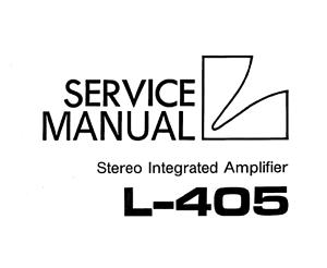 LUXMAN l-405, l-480 Schematic Service Manual schaltplan