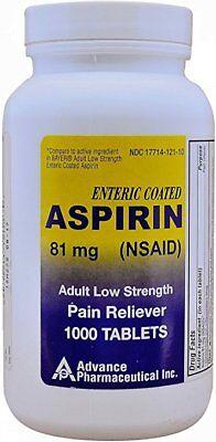 Aspirina 81 MG Para Dosis Baja Analgésico Genérico Advance ...