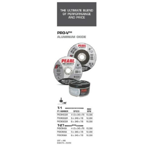5-PK Pearl Abrasive PVCW4532A Pro-V Slimcut-40 Cut-off