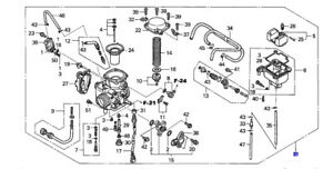 HONDA OEM CARBURETOR ASSEMBLY RINCON 03-05 TRX650 16100