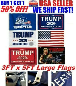 details about trump 2020 flag 3x5 feet keep america great maga kag flags banner tank rambo red