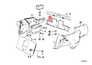 Genuine BMW E30 Cabrio Coupe Sedan Tail Trim Panel OEM