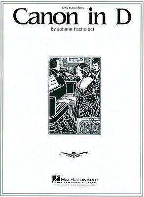 Canon in D Sheet Music Easy Piano Solo NEW Johann