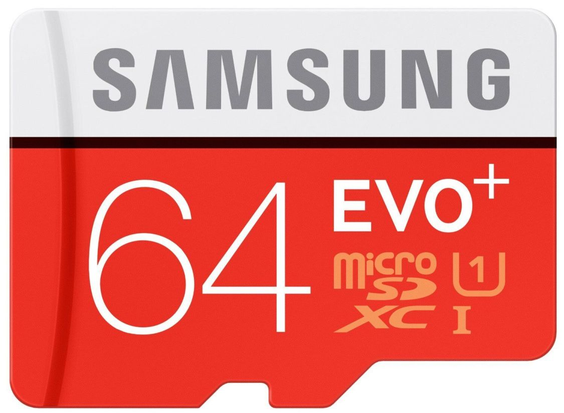Samsung EVO Plus 64GB Micro-SDXC Card mit 80 MB/s +SD-Adapter UHS-I ,Mod.2019