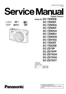 Panasonic Lumix DC-ZS70 TZ90 Service Manual + Schematic