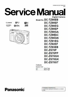 Panasonic Lumix DC-ZS70 TZ90 Service Manual & Repair Guide