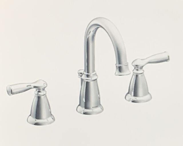 moen ws84924 chrome two handle high arc bathroom faucet