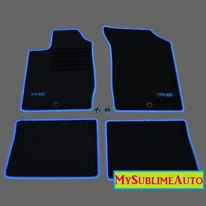 details sur tapis de sol renault clio ii 2 de 1998 a 2005 velours edition logo brode neufs