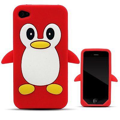 red penguin silicone case