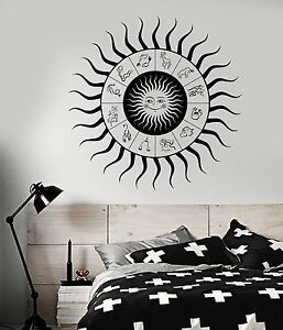 Vinyl Wall Decal Zodiac Signs Horoscope Sun Bedroom Design Stickers 842ig Ebay