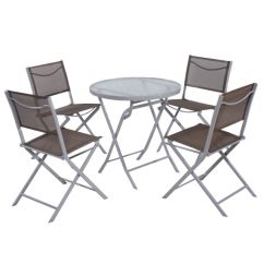 Foldable Table And Chairs Garden Will Medicare Pay For A Lift Chair Giantex 5 Pcs Bistro Set 4 Folding Outdoor Patio Furniture