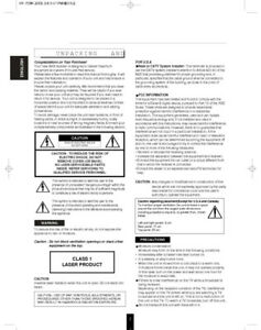 Sherwood VR-758 Bluray Receiver Owners Instruction Manual
