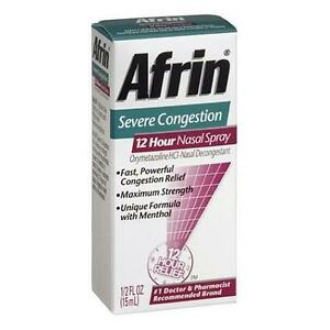 AFRIN NASAL SPRAY SEVERE CONGESTION 12 HOUR RELIEF FAST ...