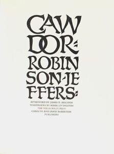 B unit sales Robinson Jeffers / Cawdor 1983 American