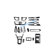 18PCS Carbon Fiber Car Interior Kit Cover Trim For Nissan