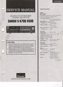 Sansui S-X700 / X500 Stereo Receiver Original Service