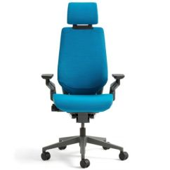 Steelcase Gesture Chair Medieval Throne Buy With Adjustable Headrest Wrap Black New Frame Blue Jay