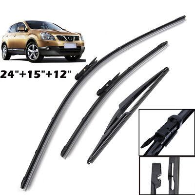 Front Rear Windshield Wiper Blades For Nissan Qashqai J10